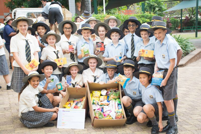 Townsville Grammar donates thousands of non-perishable goods to Townsville Food Relief NQ