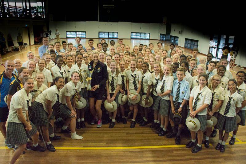 QLD Firebirds & Australian Diamonds Netball Captain, Laura Geitz, to visit Townsville Grammar School