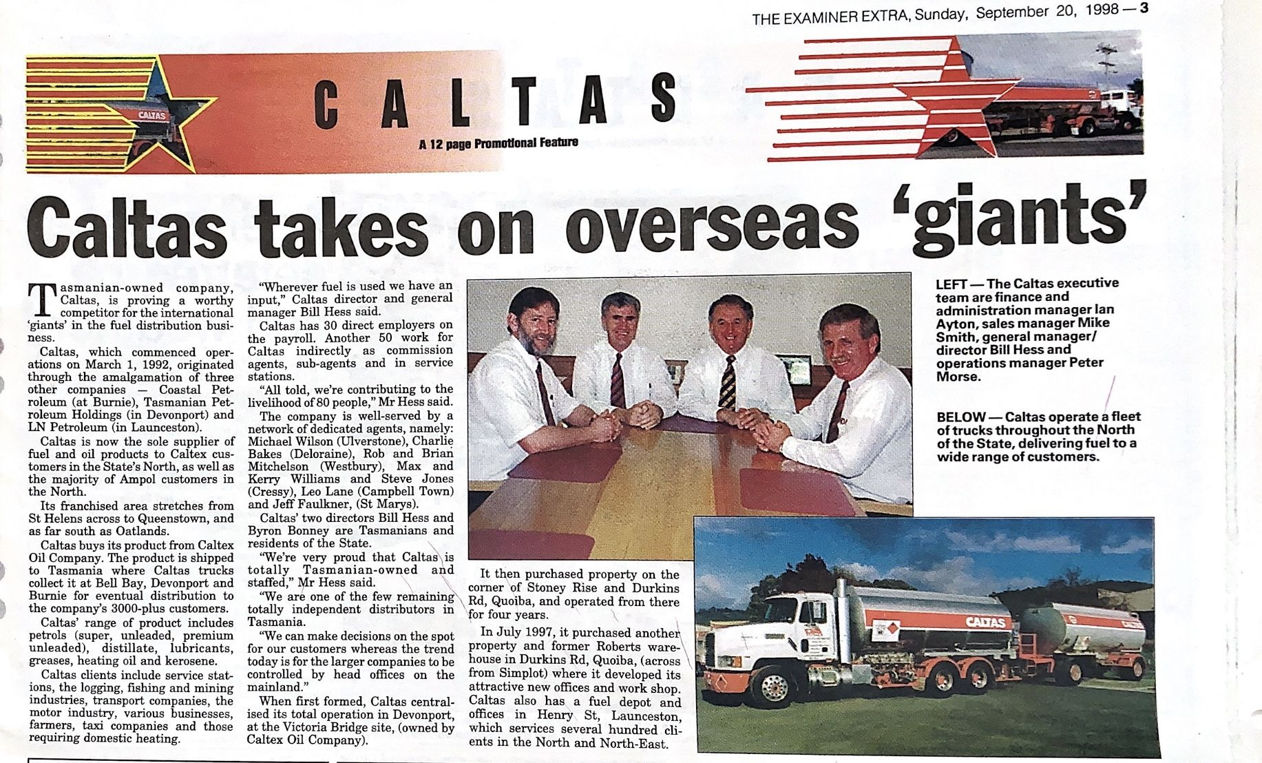 "Caltas takes on overseas ""giants"""