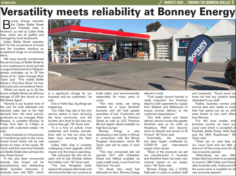 Versatility meets reliability at Bonney Energy